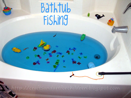 Bath Tub Fishing Game with Magnets - Kids Activity and Boredom Buster