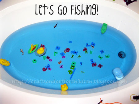 Magnet Fishing Game for Kids - Bathtub Fun