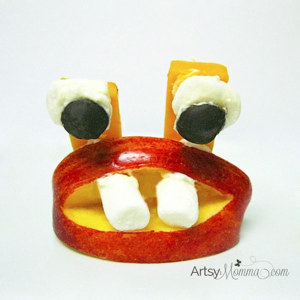 Apple Monster Snack Idea for Kids