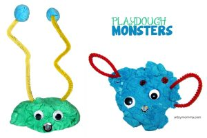 Playdough Monsters & Books About Monsters