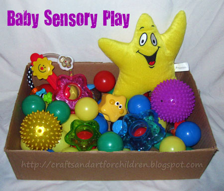 Baby Sensory Play Bin - Outer Space Themed
