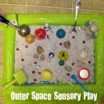 Outer Space Sensory Exporation Bin + 1 For Baby Too!