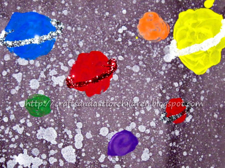 Preschool Outer Space Theme: Solar System Painting