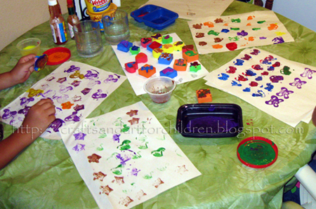 DIY Toys: Make Your Own Stamps from Foam Blocks