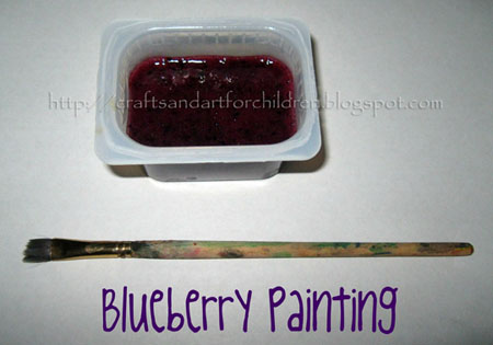 blueberry painting for preschoolers