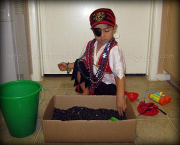 Kids Pirate Sensory Exploration Bin