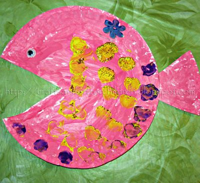 Paper Plate Fish Kids Craft