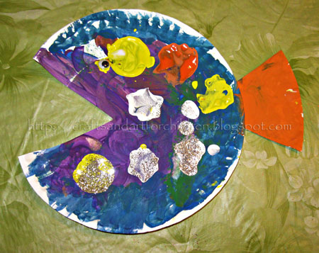 Paper Plate Fish Craft for Kids
