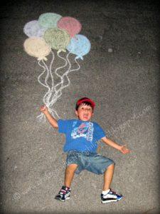 Balloon Chalk Photo
