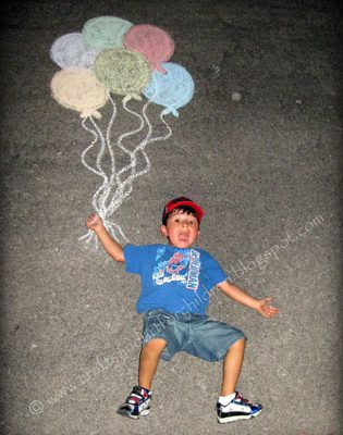 Chalk Photography- Fun Activity + Creative Keepsake