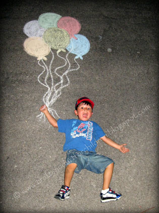 Balloon Chalk Photo