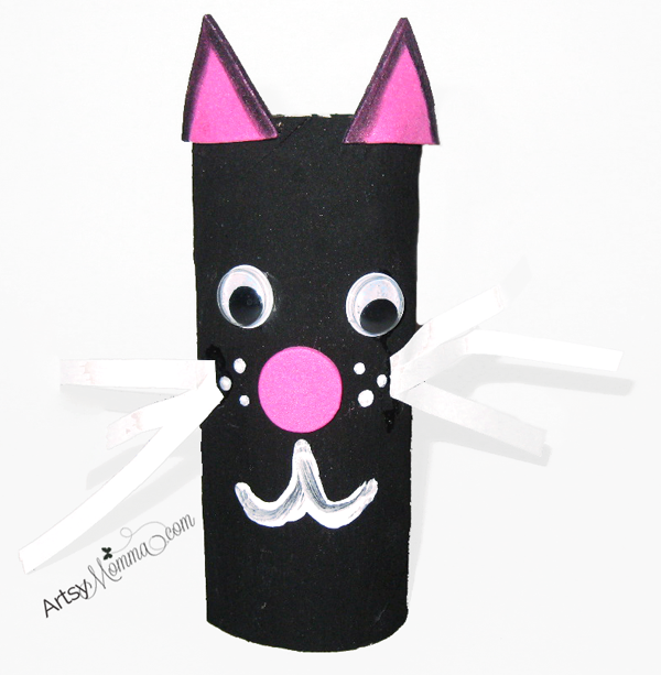 Black Cat TP Tube Halloween Craft