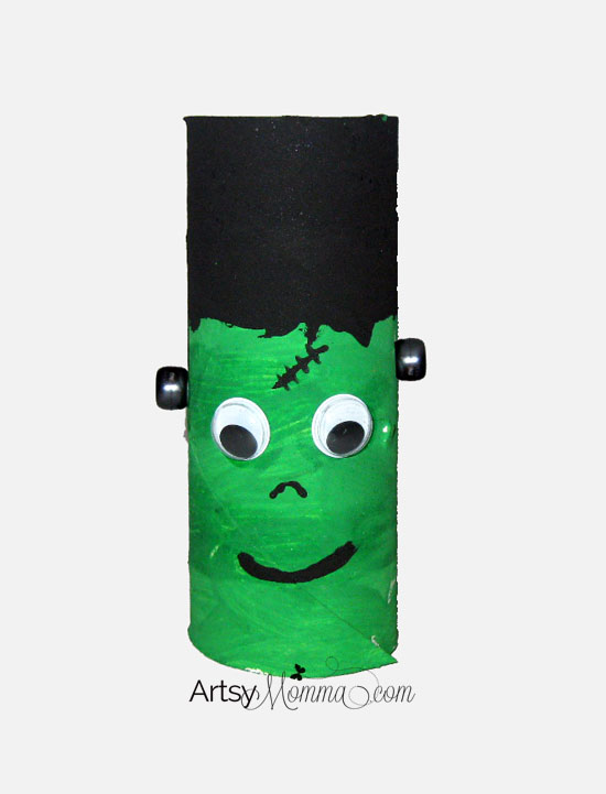 Cardboard Tube Frankenstein Craft for Halloween