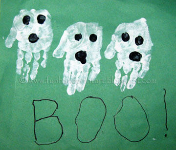 Handprint Ghost Craft