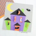 Printable Haunted House Craft for Halloween