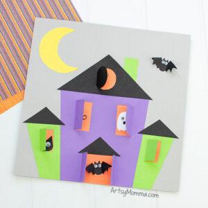 Haunted House Preschool Craft