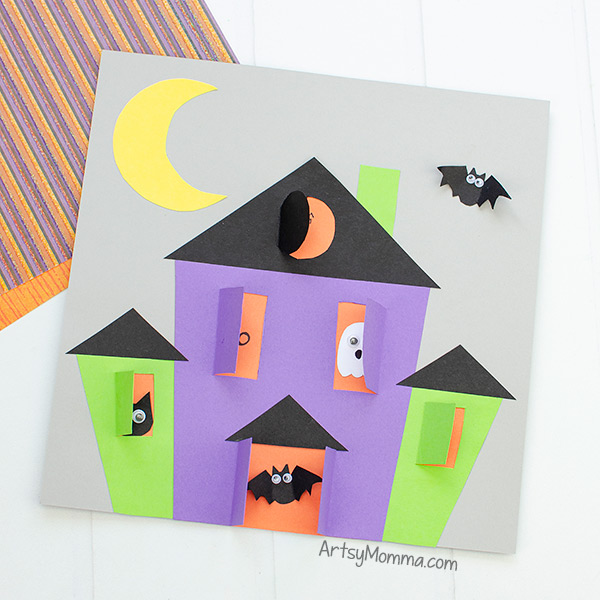 Haunted House Preschool Craft