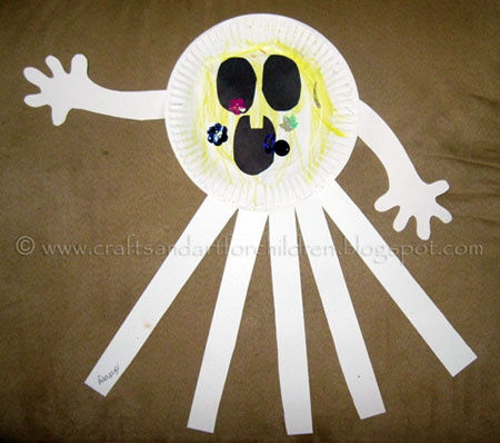 Paper Plate Ghost Craft | Preschool Halloween Class