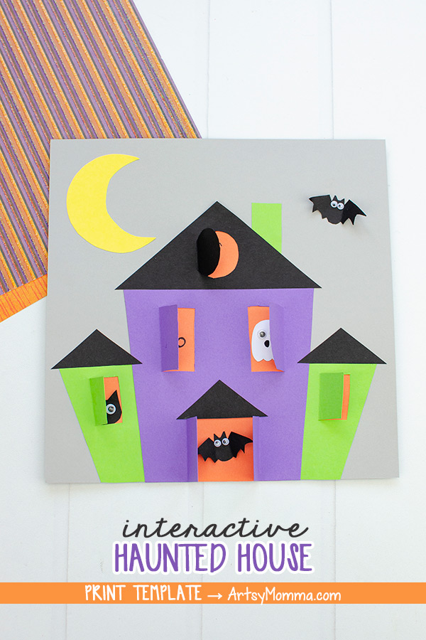 Halloween Haunted House Paper Craft
