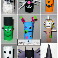 9 Toilet Paper Tube Halloween Characters