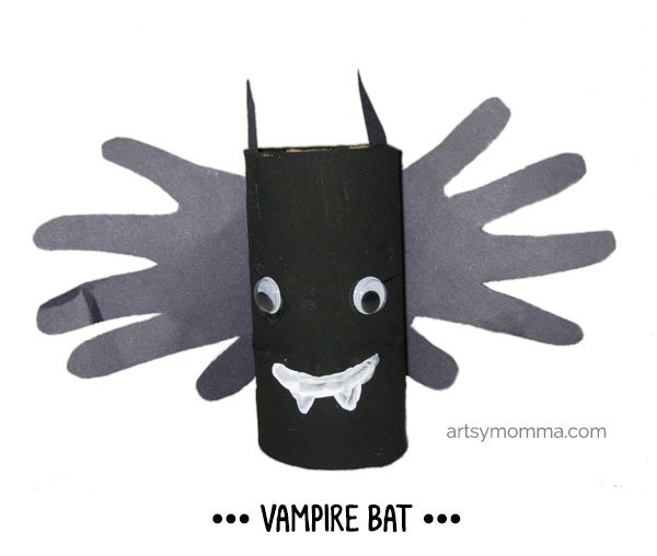Handprint Bat TP Tube Craft