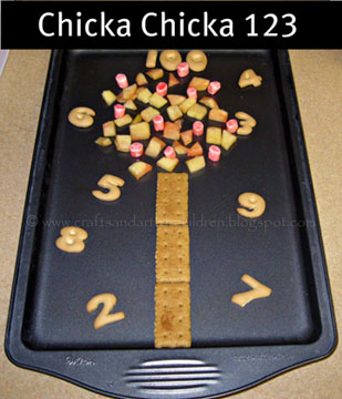 Chicka Chicka 123 Snack Idea – Kids Number Book