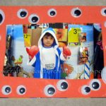 Easy, super cheap Googly Eye Picture Frame craft for kids