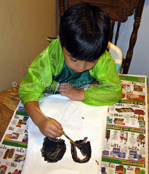 Freezer Paper Stencil Tutorial for Halloween Shirt