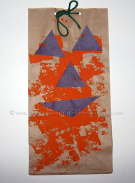 Paper Bag Jack-O-Lantern Craft