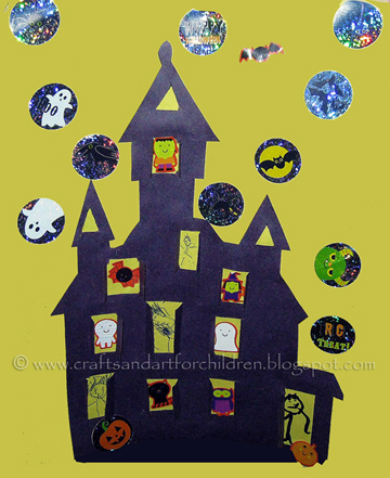 Printable Haunted House Craft for Kids