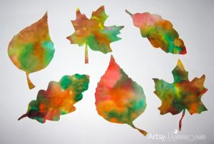 Coffee Filter Leaves - Fall Craft for Kids