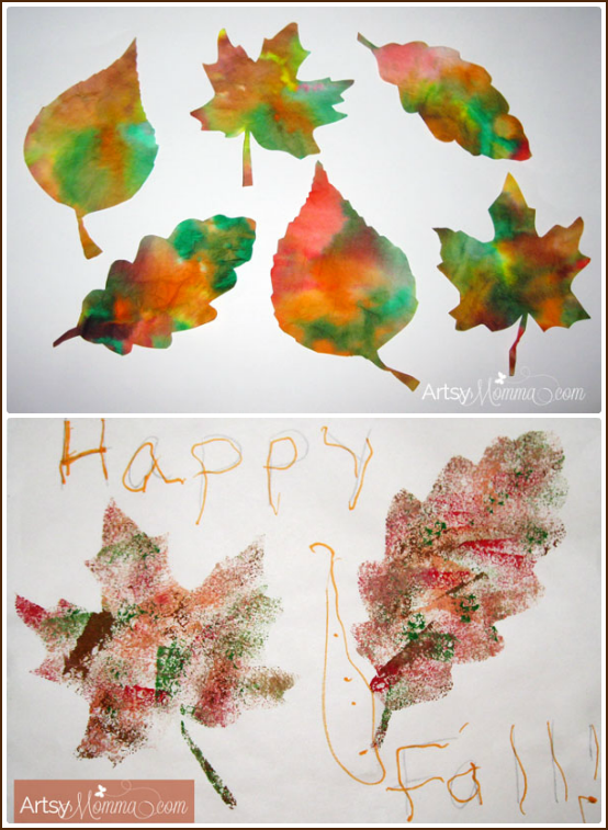 Fall is in the air...... What better way to transition into the changing of the season than a couple of easy Fall leaf projects to decorate the home with!
