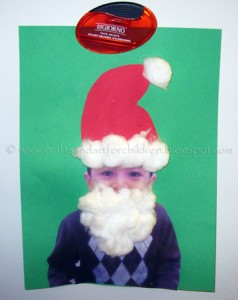 Easy Santa Craft for Kids