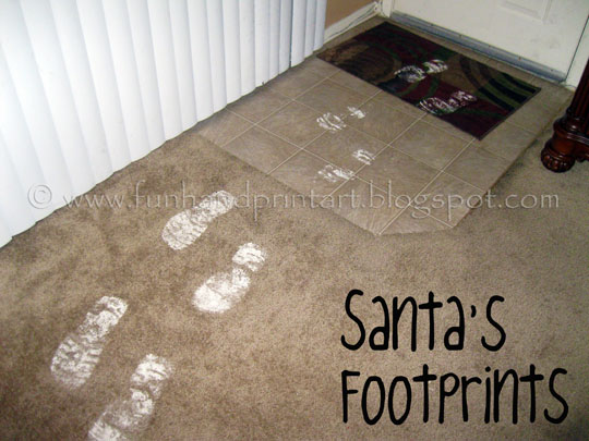 Santa left proof with a photo & his footprints!!!