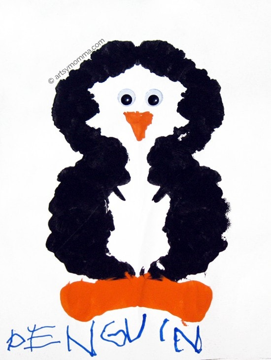 Fold & Paint Symmetry Penguin Craft