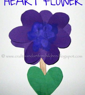 Heart Flower Kid's Craft