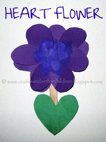 Heart Flower Kid's Craft