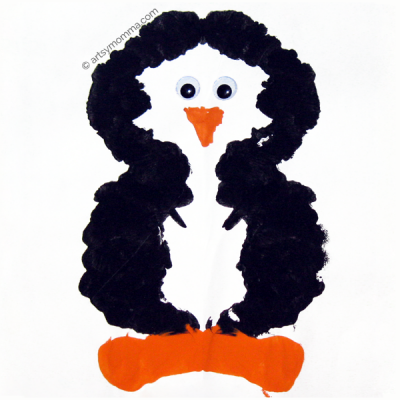 How to make a Penguin Ink Blot Symmetry Craft