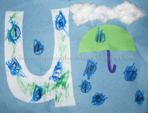 Letter U Craft is for Umbrella Craft