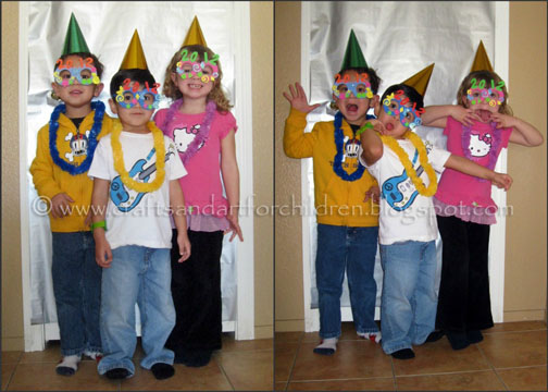 """Countdown to """"Noon"""" Year's Party {crafts, photo booth, favors}"""