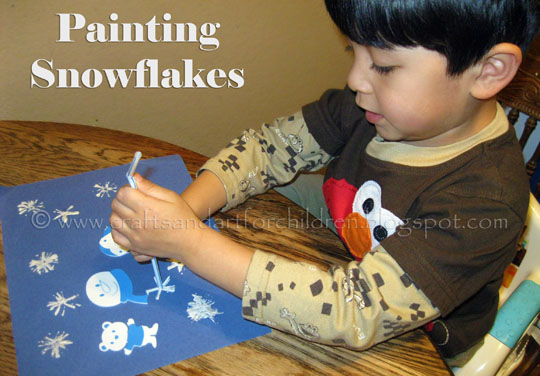 Snowflake-painting-craft