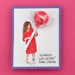 ginormous lollipop valentines day card - Valentine Lollipops
