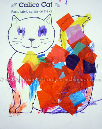 Letter C Craft: C is for Calico Cat