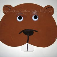 Paper Plate Groundhog Face