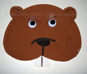 Plate Plate Groundhog Day Craft for Kids