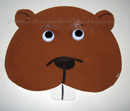 Plate Plate Groundhog Day Craft for Kids & Paper Plate Groundhog Face - Artsy Momma