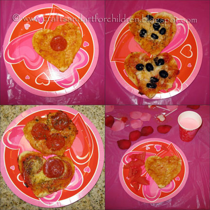Valentine's Day Heart-Shaped Pizza - Kids Party Idea