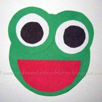 Circle Frog – shapes craft