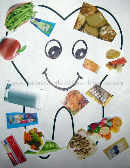 Dental Health Month Craft: Happy/Sad Tooth Collages