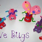 Egg Carton Love Bugs Craft for Valentine's Day